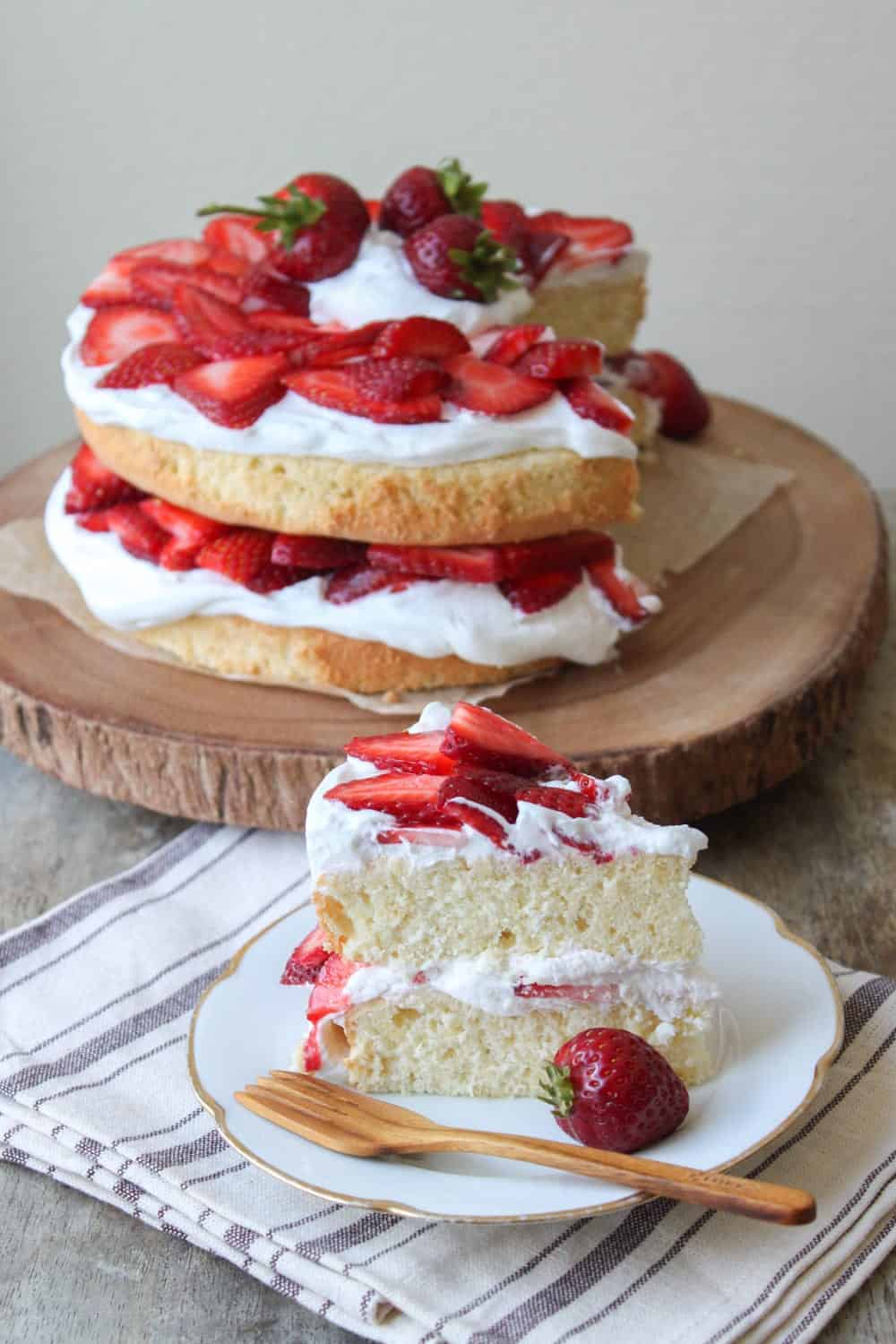 How To Make A Homemade Strawberry Shortcake Birthday Cake