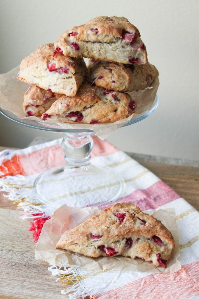 summer strawberry scones