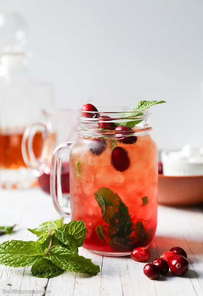 Cranberry Mint Julep cocktail