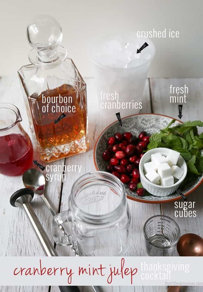 Cranberry-Mint-Julep-ingredients