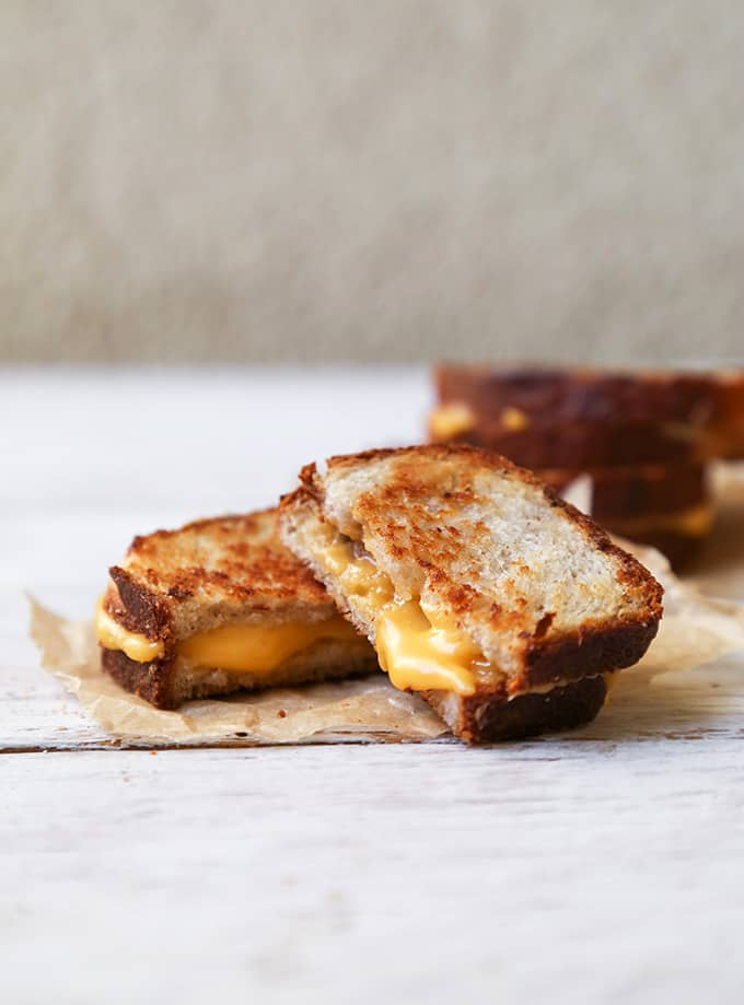 Bacon Parmesan Walnut Bread Grilled Cheese Sandwich