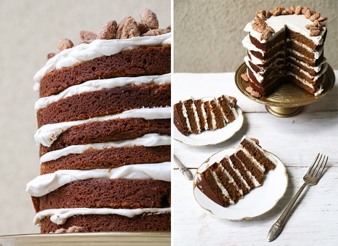 Gingerbread Layer Cake with Maple Whipped Cream