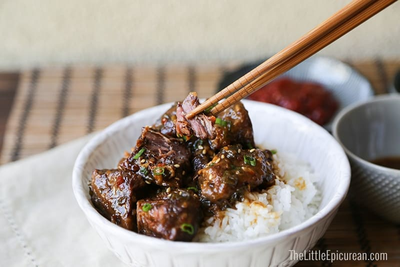 The Little Epicurean Slow Cooker Asian Braised Beef