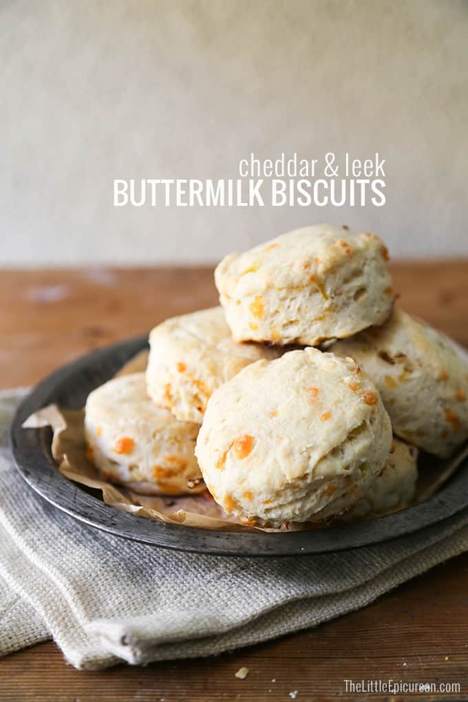Cheddar and Leek Buttermilk Biscuits