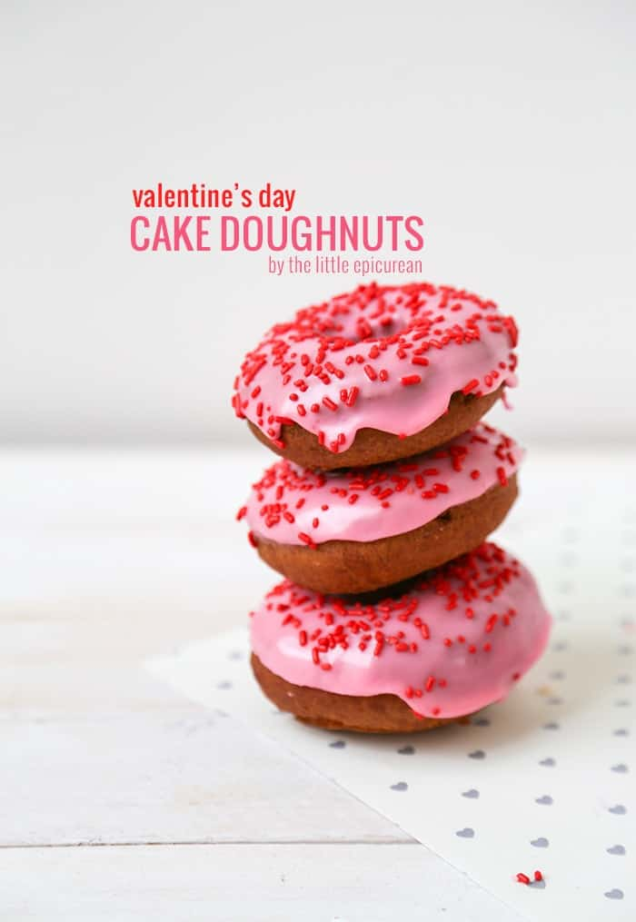 Valentine's Day Cake Doughnuts