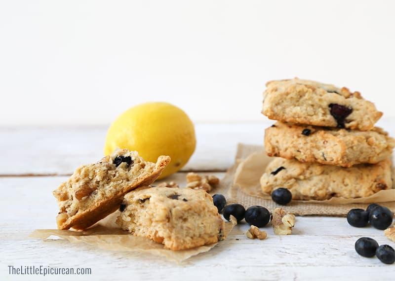 Lemon Blueberry Oat Scones