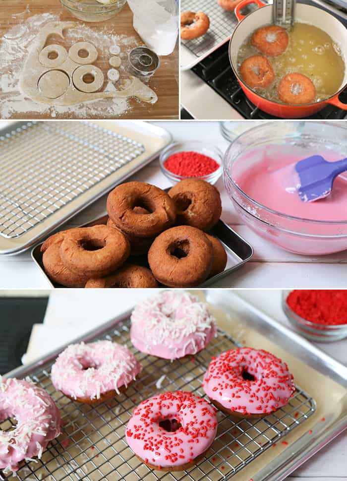 How to make Valentine Cake Doughnuts