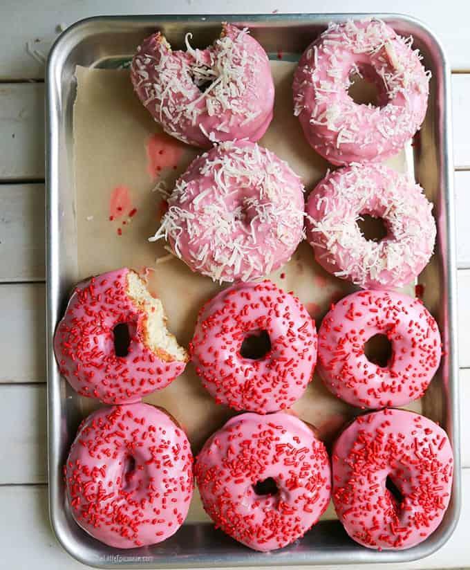 Valentine Cake Doughnuts