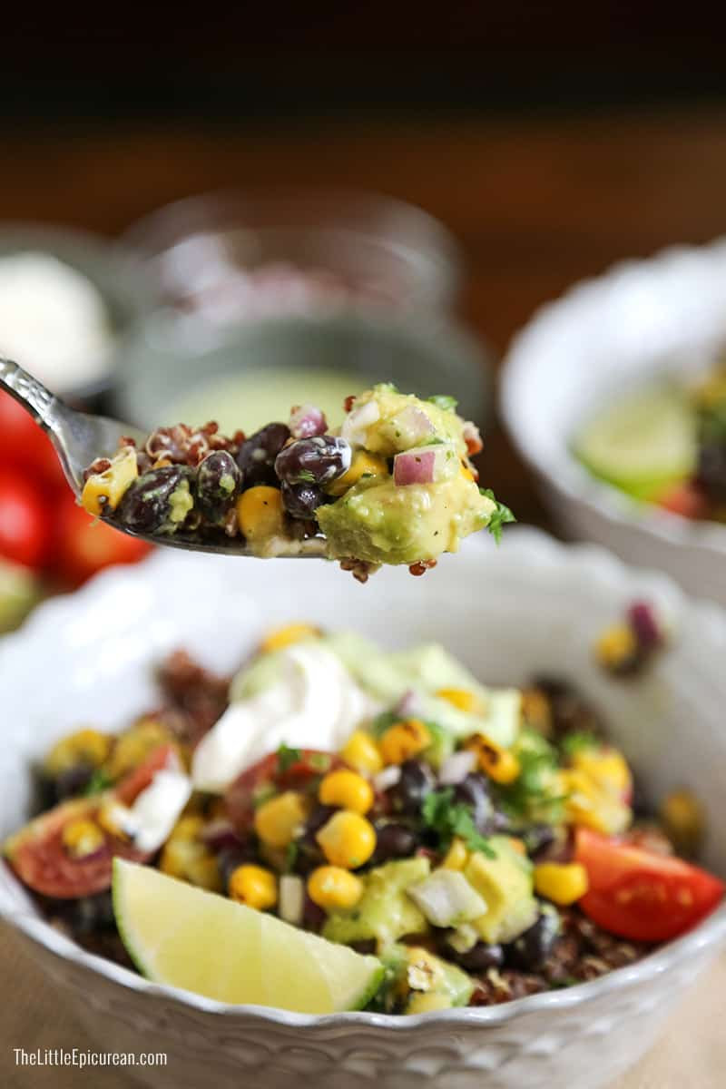 Red Quinoa Bowl and Lime Cilantro Ranch Dressing, The ...