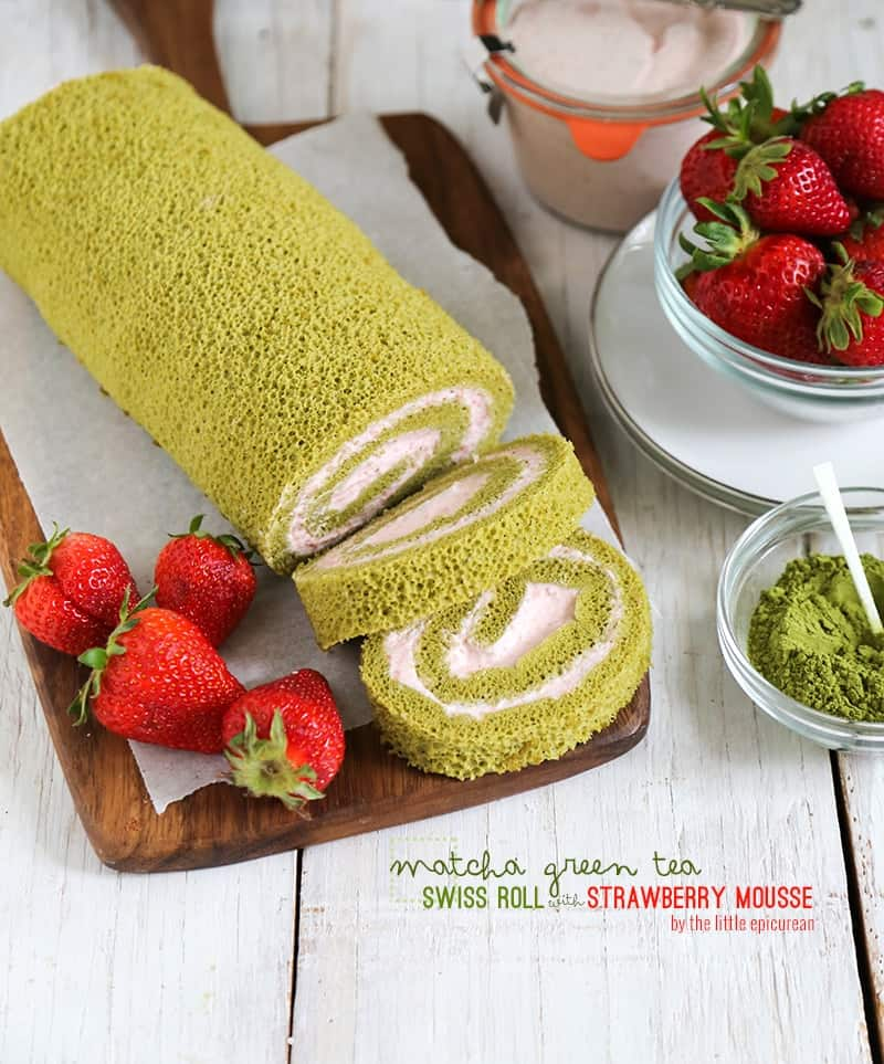 Swiss Roll Cake Strawberry