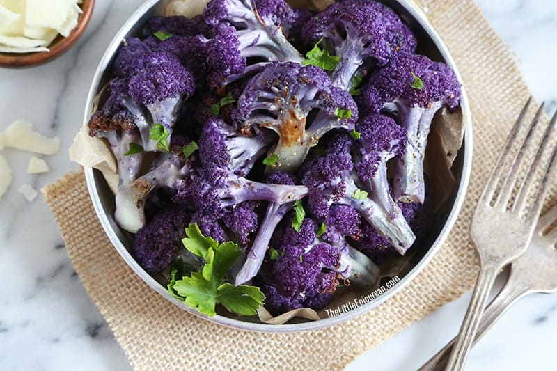 TheLittleEpicurean-roasted-purple-cauliflower-close-up