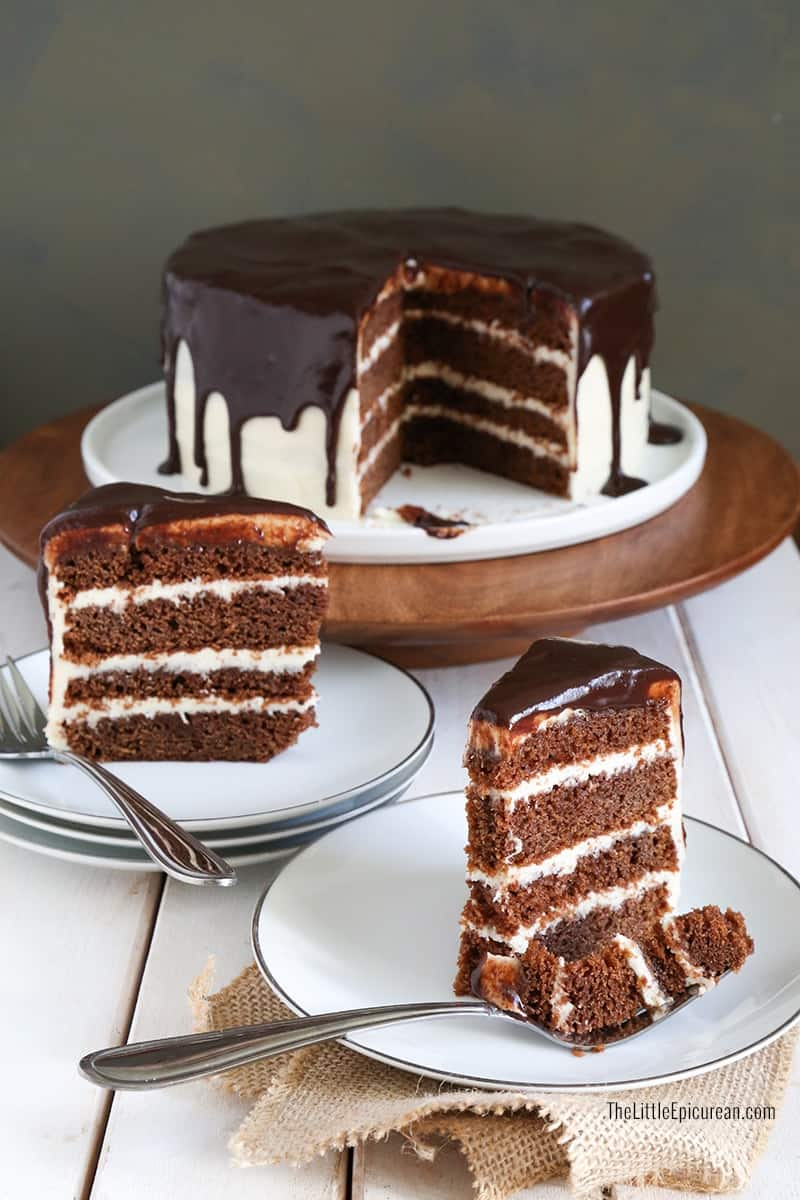 Irish Whiskey and Stout Chocolate Cake - The Little Epicurean