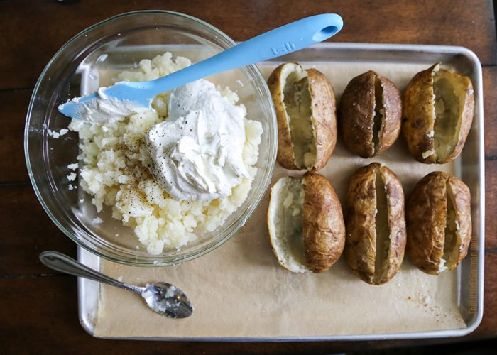 Twice Baked Ranch Potatoes