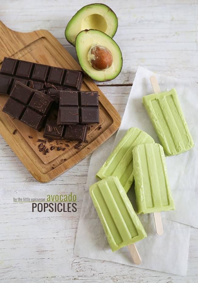 Creamy Chocolate Avocado Popsicles- The Little Epicurean