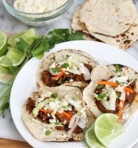 Slow Cooker Shredded Beef Tacos | The Little Epicurean