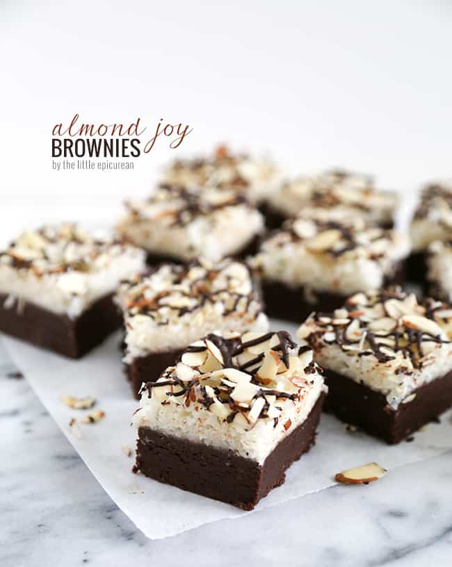 ... bar and transformed them into these super rich Almond Joy Brownies