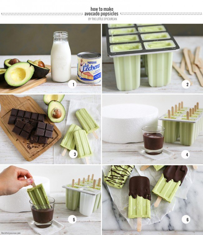 How to make Avocado Popsicles- The Little Epicurean