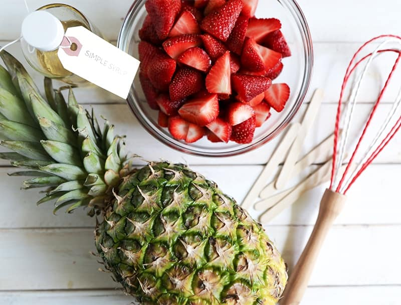 Strawberry Pineapple Popsicles ingredients