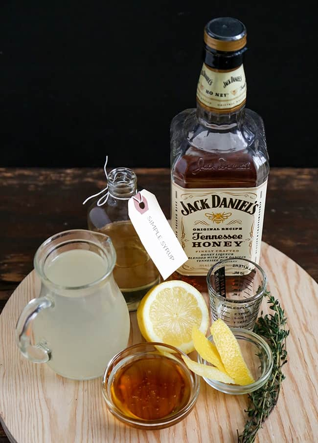 Honey Whiskey Lemonade ingredients