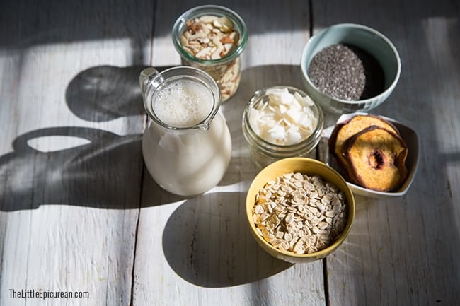No Cook Chia Seed Oatmeal | The Little Epicurean