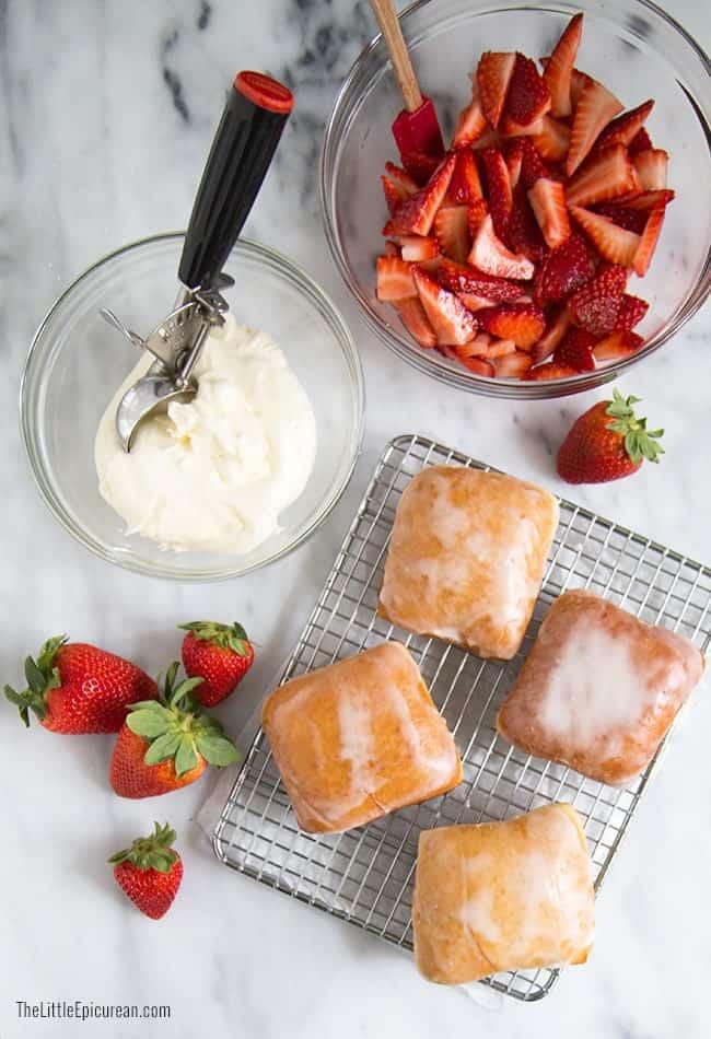 Strawberry Shortcake Doughnuts | The Little Epicurean