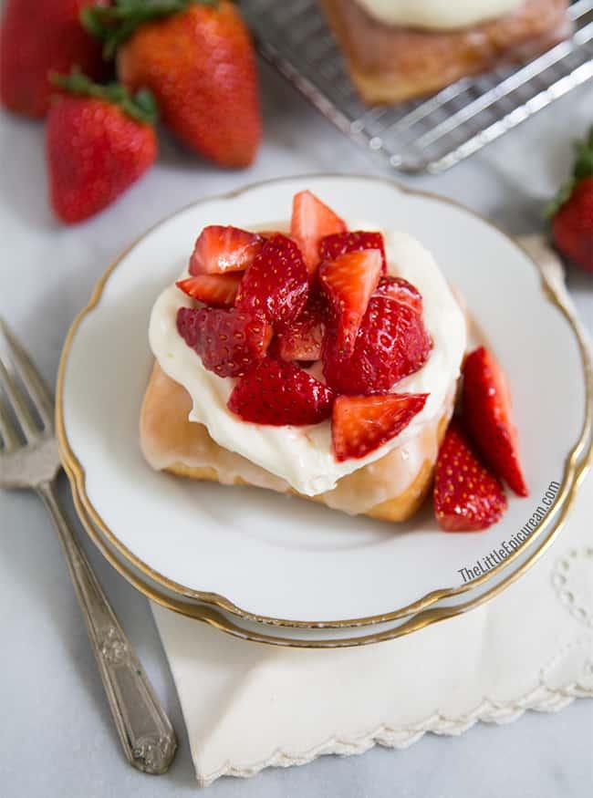 Strawberry Shortcake Doughnuts- The Little Epicurean