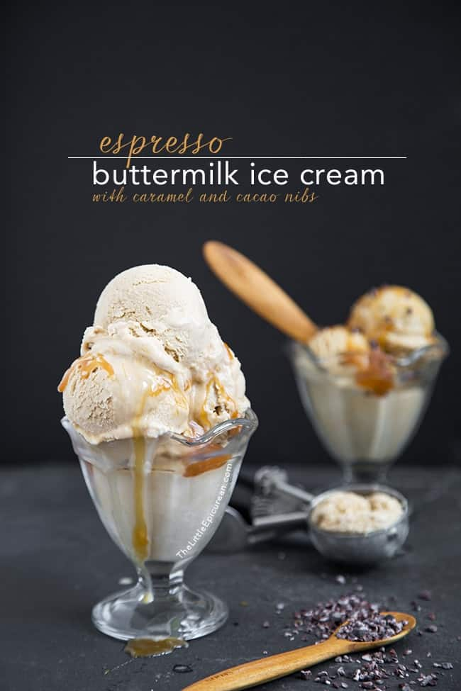 Espresso Buttermilk Ice Cream | The Little Epicurean