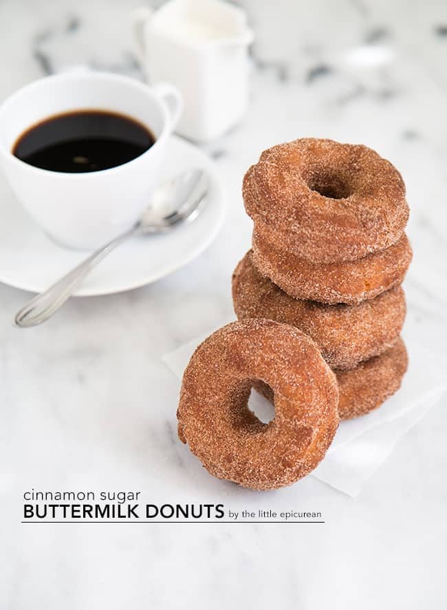 Cinnamon Sugar Buttermilk Donuts | The Little Epicurean