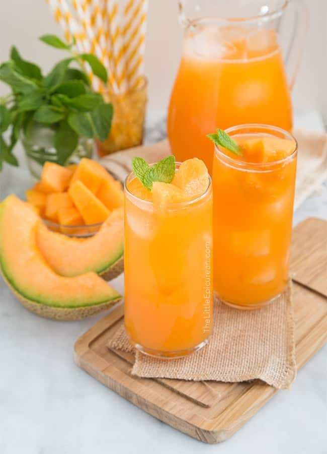 Cantaloupe Agua Fresca The Little Epicurean Honeydew and cantaloupe are perfect candidates for creating fresh melon cocktails. cantaloupe agua fresca the little epicurean