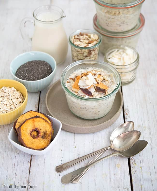 No Cook Overnight Chia Seed Oatmeal