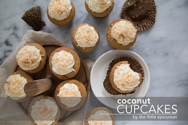Coconut Cupcakes | The Little Epicurean