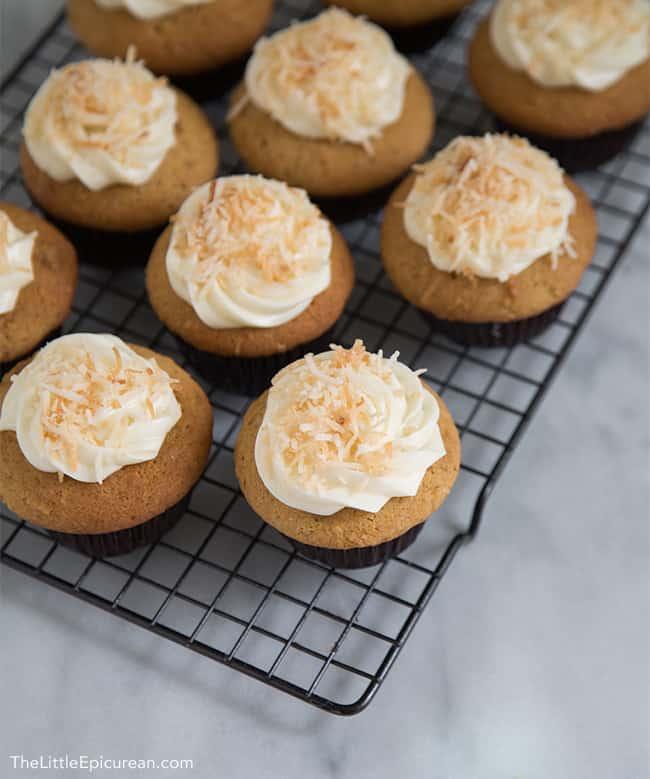 Coconut Cupcakes   The Little Epicurean