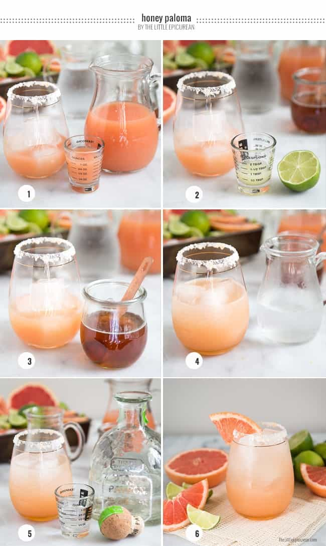Step-by-Step: Honey Paloma Cocktail | The Little Epicurean