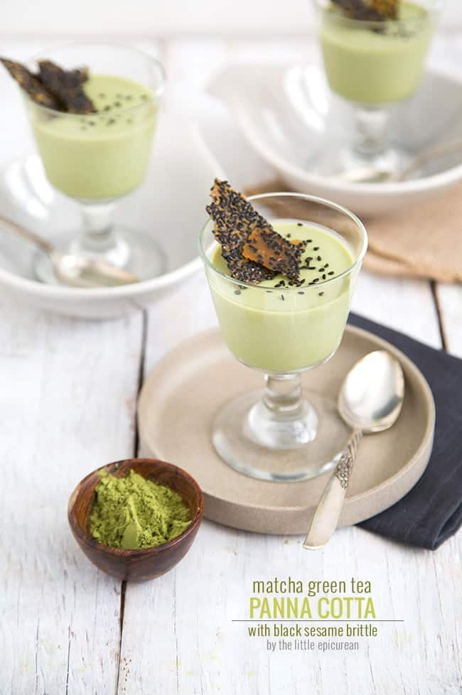 panna cotta vanilla panna cotta green tea panna cotta with strawberry ...