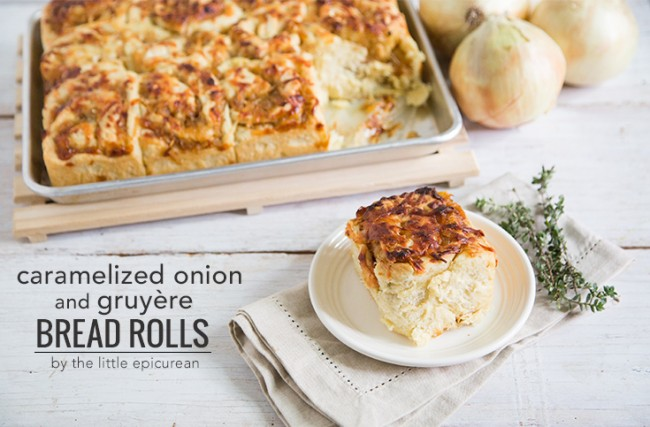 Caramelized Onion and Gruyere Bread Rolls | The Little Epicurean