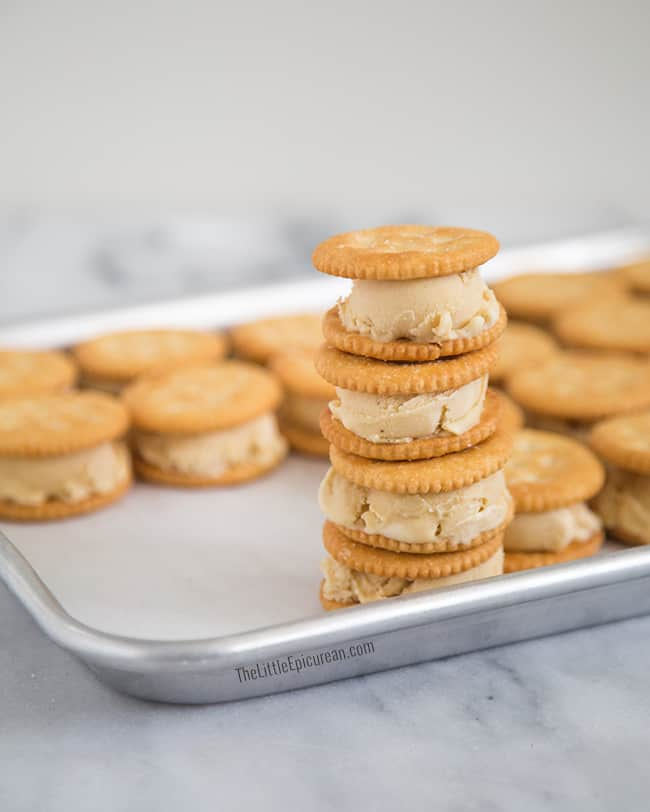 Peanut Butter Ice Cream Sandwiches | The Little Epicurean