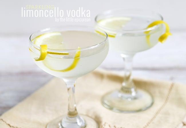 Sparkling Limoncello Vodka | The Little Epicurean