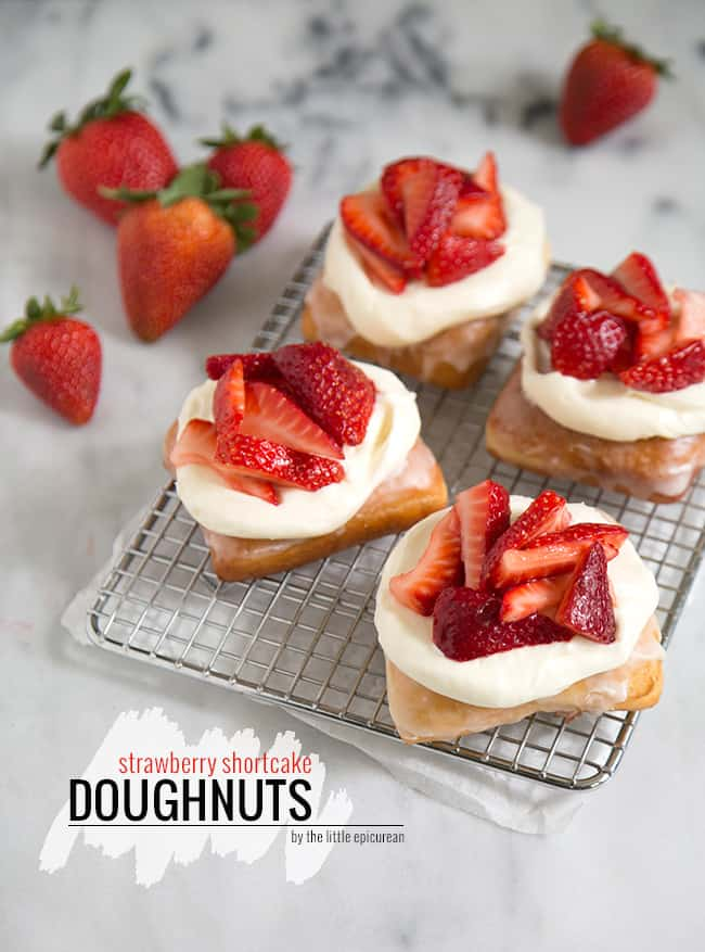Strawberry Shortcake Doughnuts | The Little Epicurean