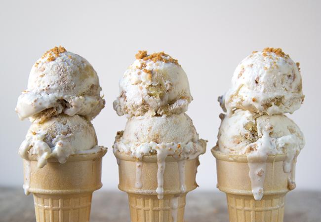 Roasted Banana Cheesecake Ice Cream | The Little Epicurean
