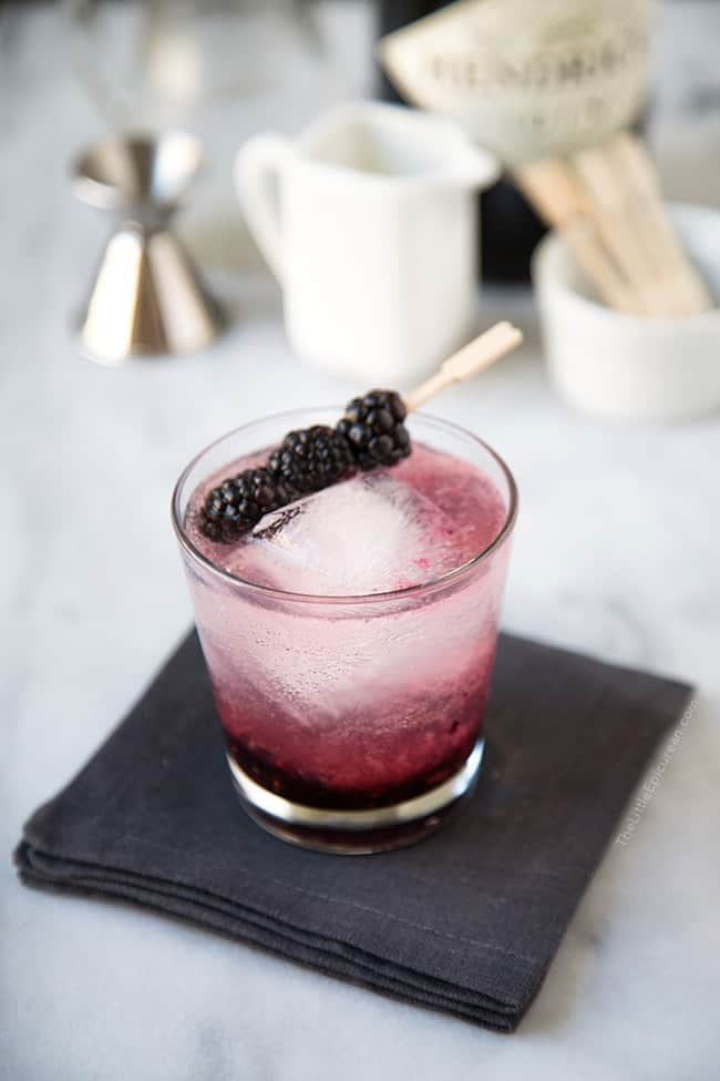 Thirsty Thursday: Blackberry Gin Fizz - The Little Epicurean