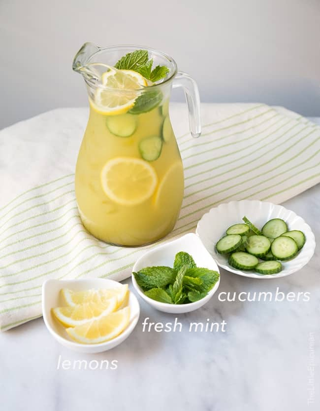 Cucumber Mint Lemonade | The Little Epicurean