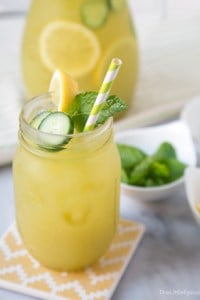 Cucumber Mint Lemonade |The Little Epicurean