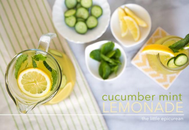 Cucumber Mint Lemonade   The Little Epicurean