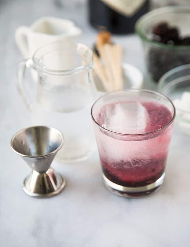 Blackberry Gin Fizz | The Little Epicurean