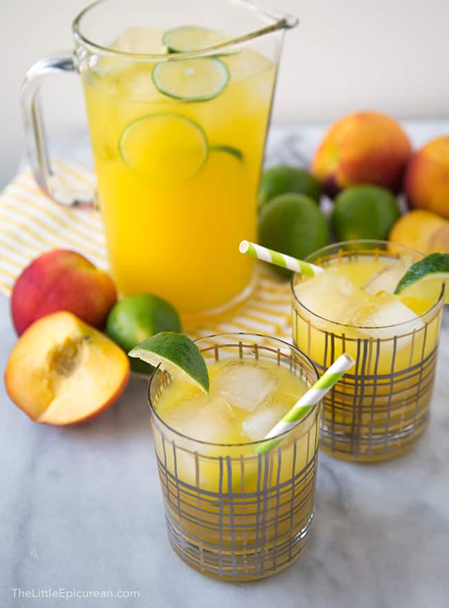 Ginger Peach Limeade | The Little Epicurean
