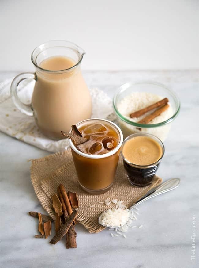 Horchata Latte (horchata con espresso)