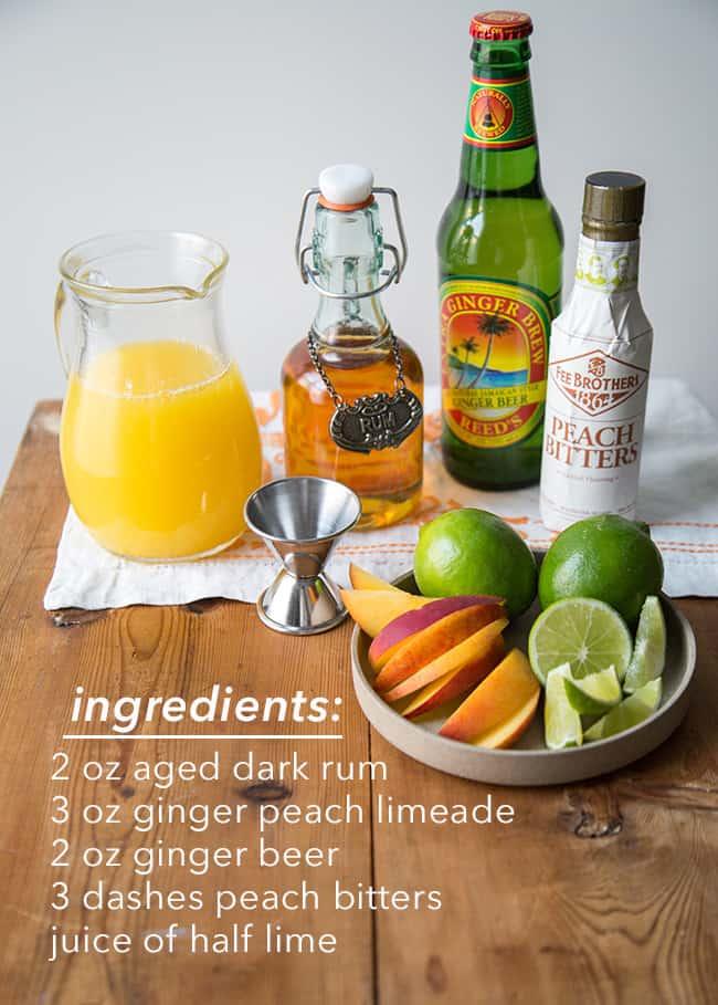 Ginger Peach Cooler ingredients | The Little Epicurean
