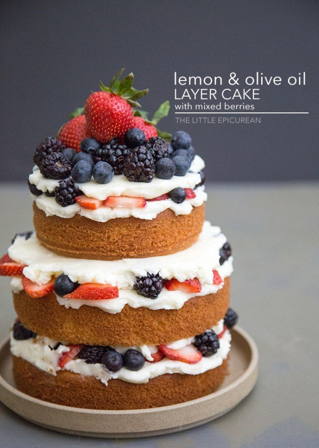 Lemon Olive Oil Layer Cake | The Little Epicurean