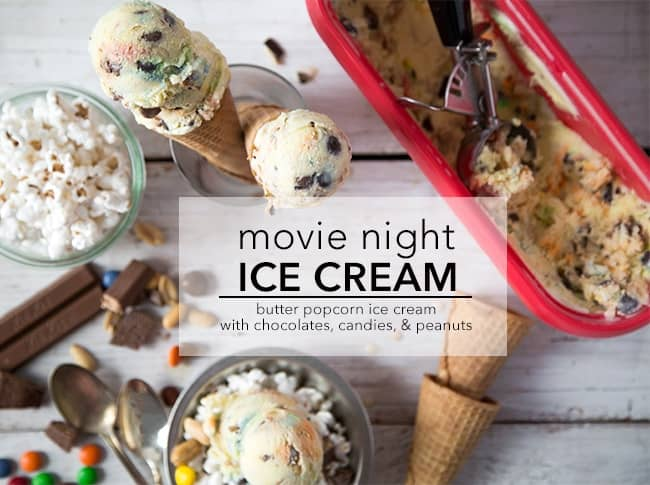 Movie Night Ice Cream | The Little Epicurean