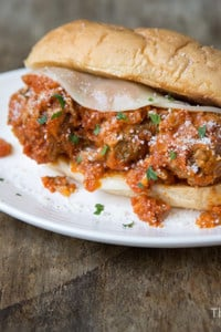 Ricotta Meatball Sandwich   The Little Epicurean